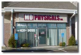 MD Physicals store-front